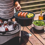 Caliente Portable Charcoal Grill + Cooler Tote