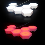 Touch Sensitive Modular Wall Lighting // Set Of 6 Tiles