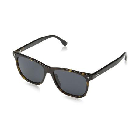 Men's Square Sunglasses // Dark Havana + Gray