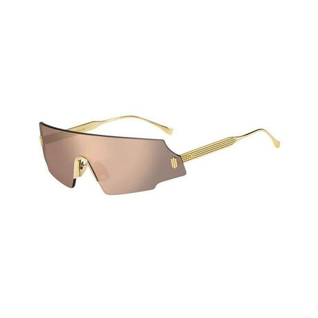 Women's Rimless Oversize Sunglasses // Rose Gold + Gray