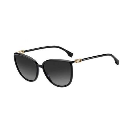 Women's Cat Eye Sunglasses // Black + Dark Gray