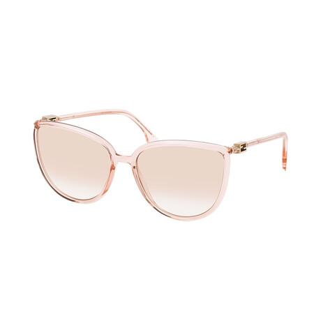 Women's Cat Eye Sunglasses // Pink + Brown