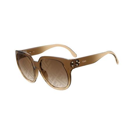 Women's Square Sunglasses // Brown