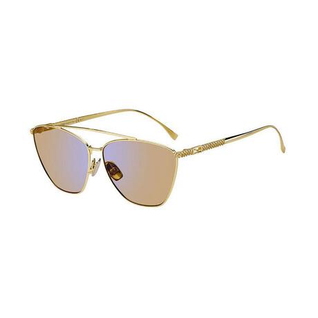 Women's Cat Eye Sunglasses // Yellow Gold