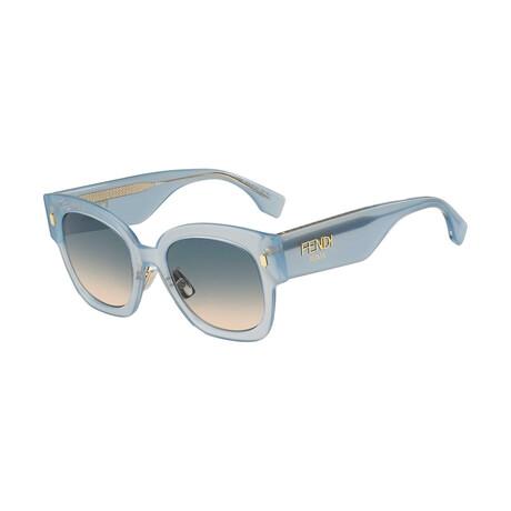 Women's Square Sunglasses // Gray + Blue
