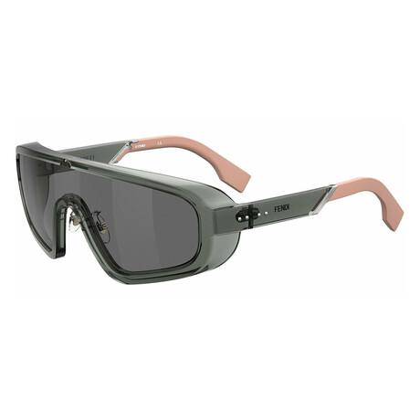 Men's Shield Sunglasses // Gray + Silver