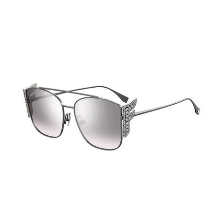 Women's Square Sunglasses // Ruthenium + Gray Mirror