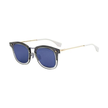 Men's Square Sunglasses // Gray Blue + Blue