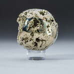 Genuine Polished Pyrite Sphere + Acrylic Display Stand