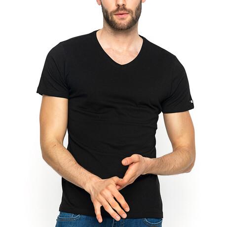 George V-Neck T-Shirt // Black (XS)