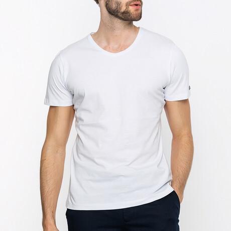 Wess V-Neck T-Shirt // White (XS)