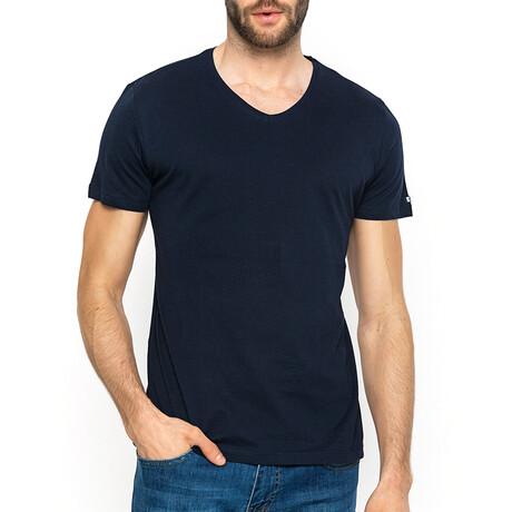 Quinn V-Neck T-Shirt // Navy (XS)
