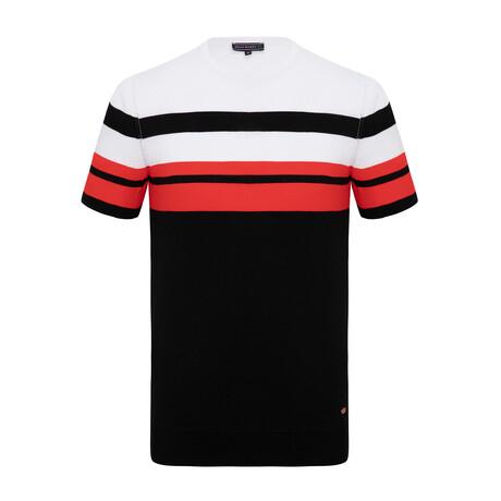 Danny Knitwear T-Shirt // Black + White (XS)