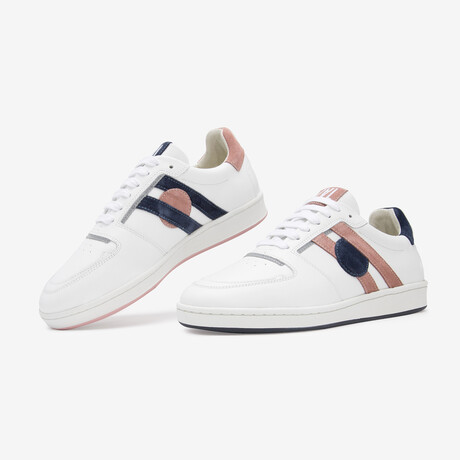 Pink Marine Sneaker // Pink + Blue (Euro Size 36)