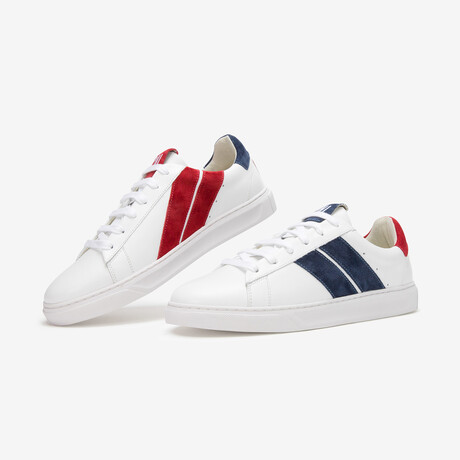 French Flag Sneaker // Blue + White + Red (Euro Size 38)