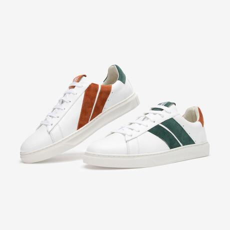 Ginger Lagoon Sneaker // Green + Camel (Euro Size 36)