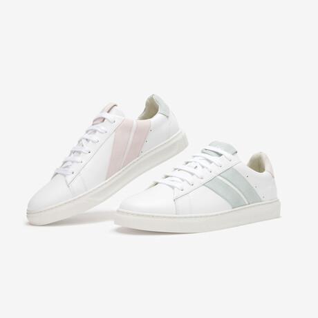 Pastel Flamingo Sneaker // Pastel Pink + Green (Euro Size 36)