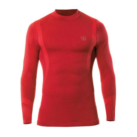 VivaSport // 5.0 Thermal Long Sleeve T-Shirt // Red (S/M)
