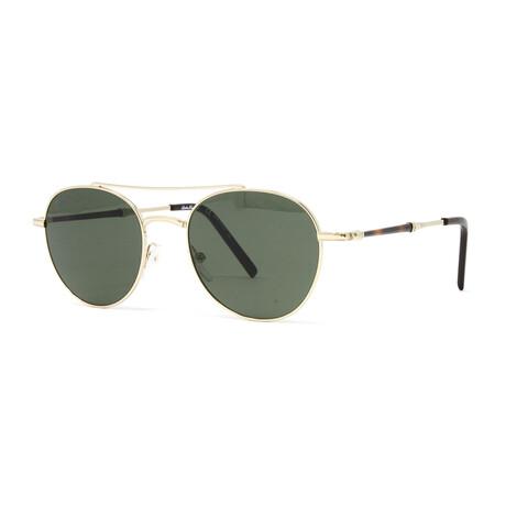 Men's SF224SG Sunglasses // Shiny Gold + Brown