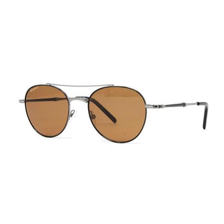 Men's SF224S Sunglasses // Shiny Dark Gunmetal + Black