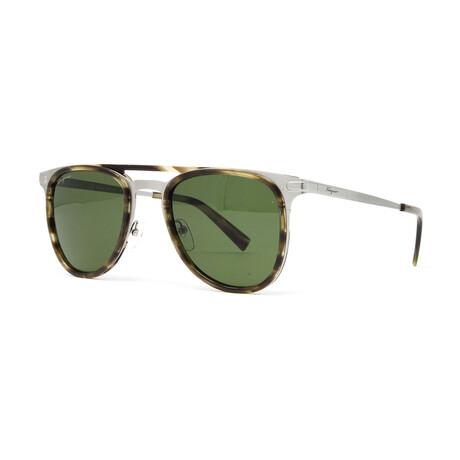 Men's SF218S Sunglasses // Striped Khaki