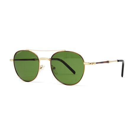 Men's SF224S Sunglasses // Shiny Gold + Olive Green