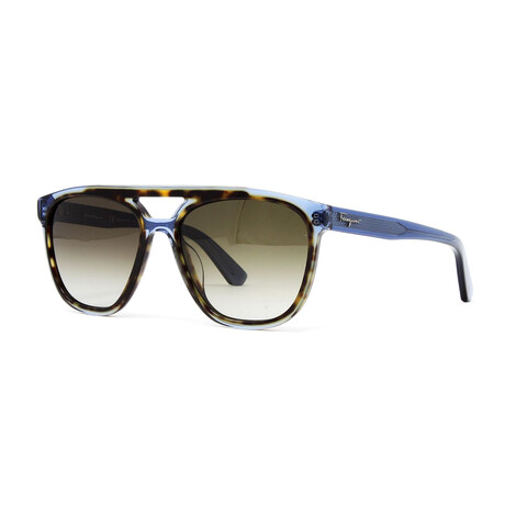Men's SF944S Sunglasses // Havana + Blue