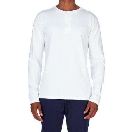 Super Soft Long Sleeve Henley // White (S)