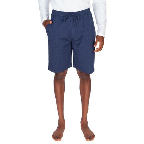 Super Soft Jersey Short // Heather Blue (S)