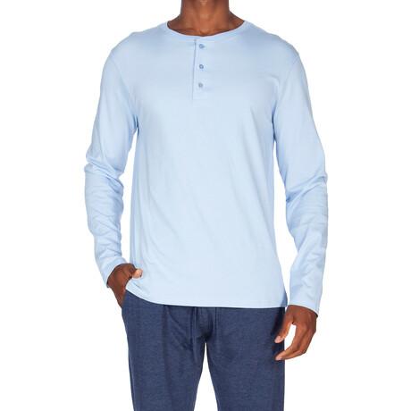Super Soft Long Sleeve Henley // Light Blue (S)