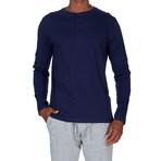 Super Soft Long Sleeve Henley // Navy (S)