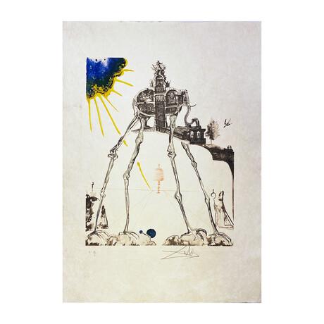 Salvador Dali // Space Elephant (L'Éléphant de l'Espace)// 1971
