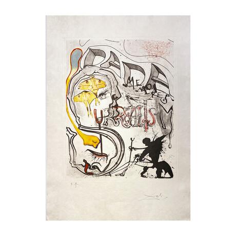 Salvador Dali // Angel of Dada Surrealism (Ange et Surréalisme Dada)  // 1971