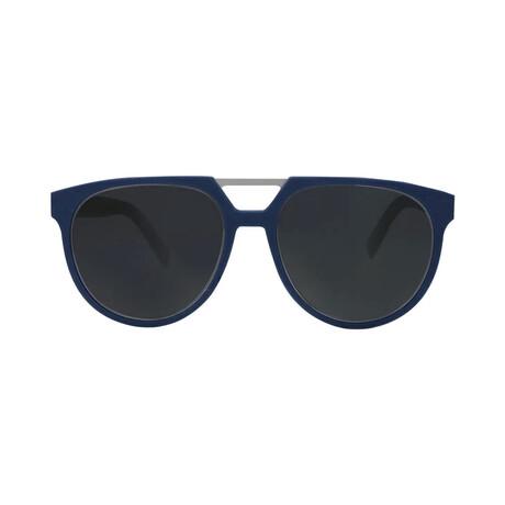 Men's DIOR0199S Sunglasses // Black Blue + Blue