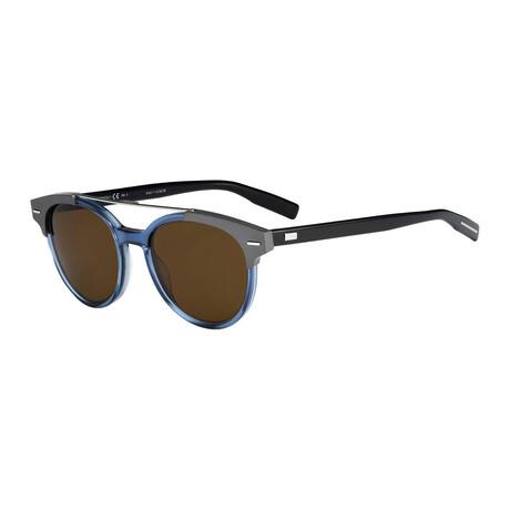 Men's BLACKTIE220S Sunglasses // Blue Gray + Brown