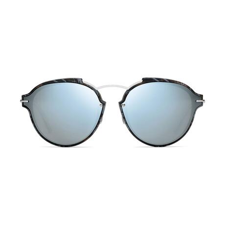 Women's DIORECLAT Sunglasses // Gray Black Marble + Gray Light Blue