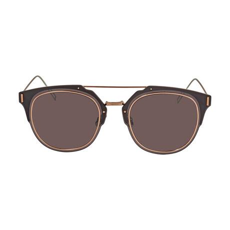 Men's DIORCOMPOSIT1-F Sunglasses // Plum + Brown