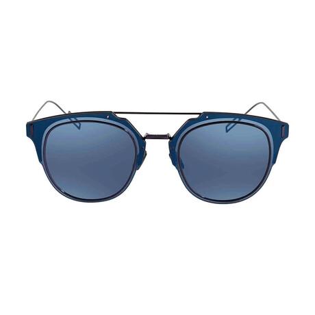 Men's DIORCOMPOSIT1-0 Sunglasses // Blue Gray + Blue