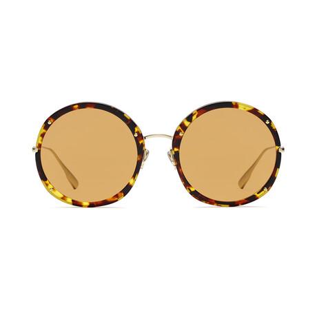 Women's DIORHYPNOTIC1 Sunglasses // Havana + Gold + Orange