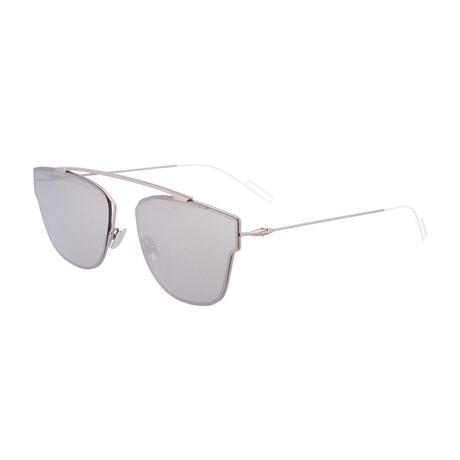 Men's DIOR0204FS Sunglasses // Matte Palladium + Silver Mirror