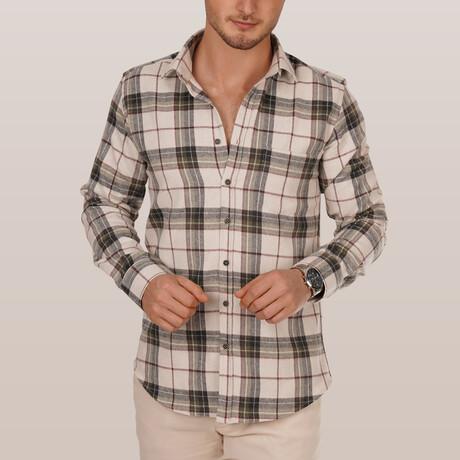 Lumberjack Shirt // Cream + Green (Small)