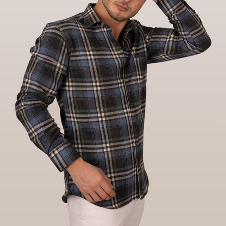 Lumberjack Slim Fit Shirt // Navy Blue (Small)