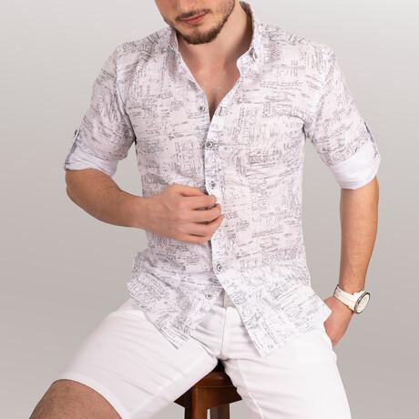 Written Shirt // White + Gray (Small)