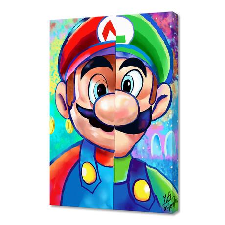 """Super Mario and Luigi (12""""H x 8""""W x 0.75""""D)"""