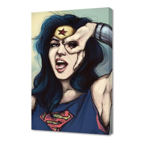 "Wonder Woman Cosplay (12""H x 8""W x 0.75""D)"