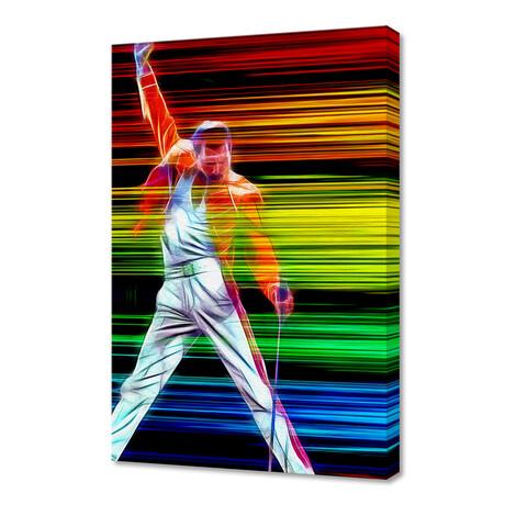 """Freddie Mercury in Color (12""""H x 8""""W x 0.75""""D)"""