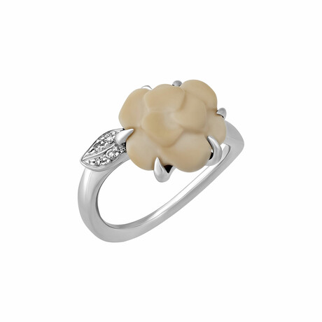 Chanel // 18k White Gold Diamond Ring // Ring Size 5.25 // Pre-Owned