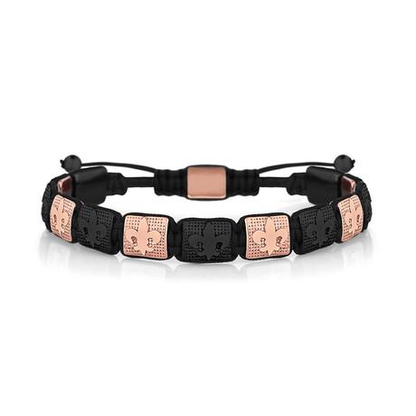 Fleur de Lis Bracelet // Black + Copper