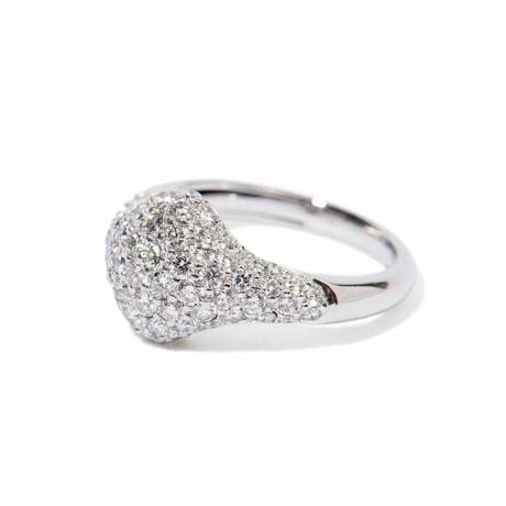 18k White Gold Diamond Ring // Ring Size 7 // New