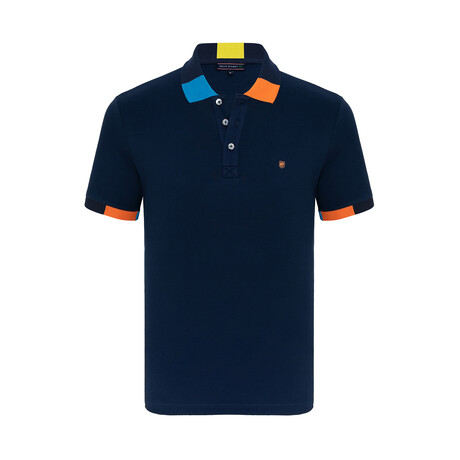 Connor Short Sleeve Polo Shirt // Navy (XS)